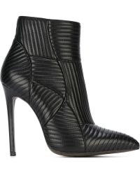 Gianni Renzi Quilted Ankle Boots - Black