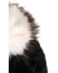 Kreisi Couture - Papalina Shearling Hat With Pompom - Lyst