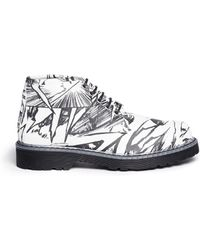 McQ by Alexander McQueen Martin Comic Print Laceup Boots - Lyst