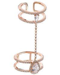 Carat* - Rose Gold Kingston Millennium Chain Ring - Lyst