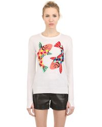 Beayukmui - Intarsia Cotton & Silk Sweater - Lyst