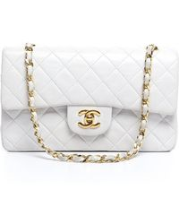 Chanel Pre-owned Lambskin Small Double Flap Bag - Lyst