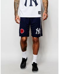 Majestic Filatures - Yankees Long Shorts - Navy - Lyst