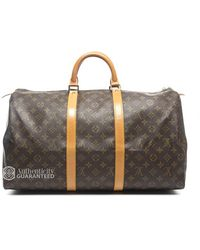Louis Vuitton Preowned Monogram Canvas Keepall 50 - Lyst