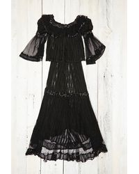 Free People Vintage Black Lace Top with Skirt - Lyst