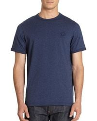 Fred Perry Cotton Crewneck Tee - Lyst