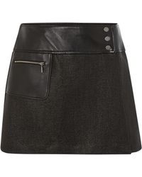 Barbour - International Wrap Leather Panel Blade Skirt - Lyst