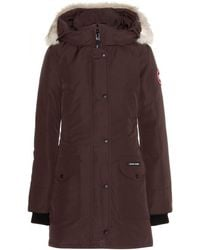 Canada Goose Trillium Down Jacket With Fur-Trimmed Hood - Lyst