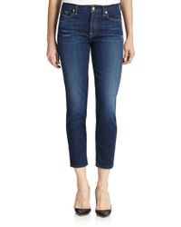 7 For All Mankind Kimmie Cropped Skinny Jeans - Lyst