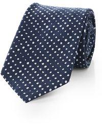 BOSS Orange - Tie With Dots: 'tie 6 Cm With Tiebar' - Lyst