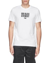 Givenchy 'God Bless' Print Cotton T-Shirt - Lyst