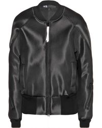Y-3 Mesh Track Bomber Jacket - Lyst