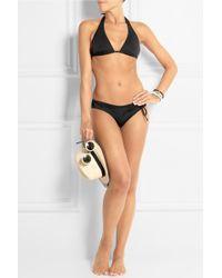 L'Agent by Agent Provocateur Honore Halterneck Bikini - Black