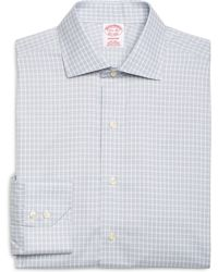 Brooks Brothers Non-Iron Madison Fit Alternating Frame Check Dress Shirt - Lyst