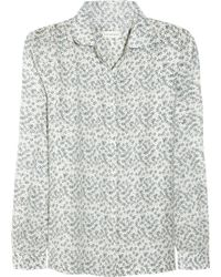 Chinti And Parker Sketchy Star Printed Cotton Shirt - Lyst