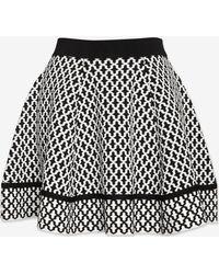 Torn By Ronny Kobo - Tile Jacquard Flare Knit Skirt - Lyst