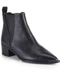 Acne Studios Jensen Pebbled Leather Ankle Boots - Lyst