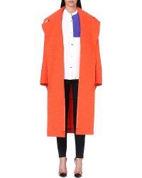 Roksanda Ilincic Helston Oversized Woolblend Coat Tangerine - Lyst