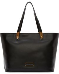 Marc By Marc Jacobs Black Leather Tote Bag - Lyst