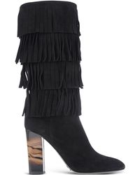Burberry | Fringed Suede Ankle Boots  | Lyst