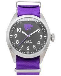 Jack Mason Brand 'kansas State University Wildcats' Nato Strap Watch - Purple