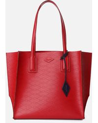 MZ Wallace - Red Perf Empire Tote - Lyst