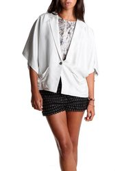 Elizabeth And James Cropped Blazer white - Lyst