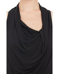 Helmut Lang Ruched Slinky Knit Dress - Lyst