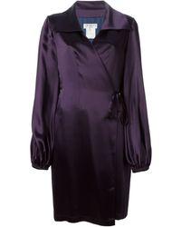 Yves Saint Laurent Vintage Wrap Style Crepe Dress - Lyst