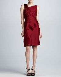 J. Mendel Asymmetric Raw-Edge Organza Dress - Lyst