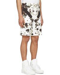 Givenchy Black And White Floral Bermuda Shorts