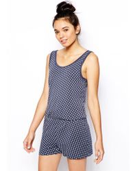 Esprit - Little Anchor Playsuit - Lyst