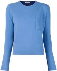 Chloé Round-Neck Cashmere Sweater blue - Lyst