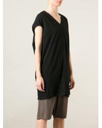 Rick Owens Drkshdw Long Cap Sleeve T-shirt - Black