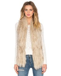 Elliatt - Liberty Raccoon Fur Vest - Lyst