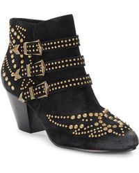 Ash Joyce Suede Studded Ankle Boots - Lyst