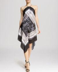 Halston Heritage Dress - Scarf Print Silk - Lyst