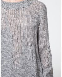 Cheap Monday Unite Knit In Grey gray - Lyst