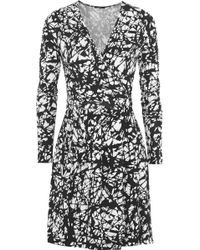 T+art Bentley Printed Stretch-jersey Wrap Dress - Lyst