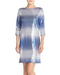 Maia - Sequin Shift Dress - Lyst