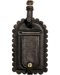 ASOS Scallop Luggage Tag - Black