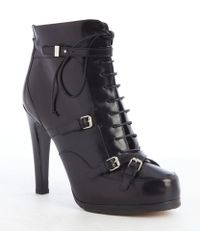 Tabitha Simmons Black Leather Lace Up 'Hanna' Booties - Lyst