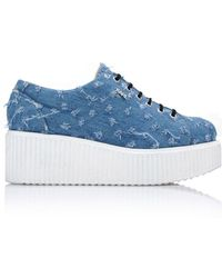 Karl Lagerfeld K/kreeper Lace Up Denim - Blue