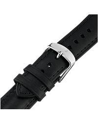 Michele 20Mm Black Calf Skin Leather Strap - Lyst