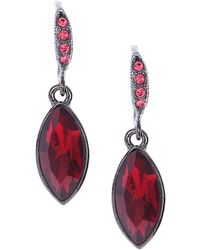 Givenchy Hematite-tone and Crimson Stone Marquise Drop Earrings - Lyst