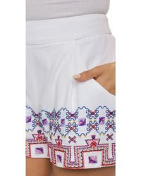 SUNO | Embroidered Cotton Shorts | Lyst
