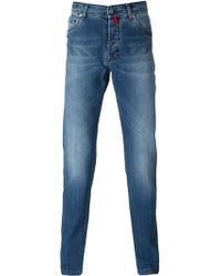 Kiton Stone Washed Slim Fit Jeans - Lyst