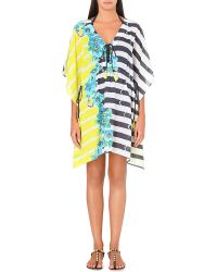 Jets by Jessika Allen Connections Vneck Modal Kaftan Acid - Lyst