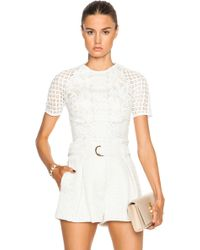 Lover Poppy Fitted Top white - Lyst