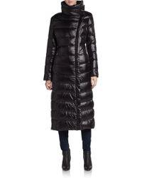 Calvin Klein Asymmetrical Down Nylon Puffer Coat - Lyst